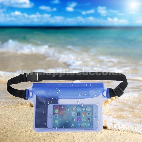 APPLE iPhone 7 PlusVízhatlan / vízálló táska, AQUA - 2 méterig, 210 x 140mm - KÉK
