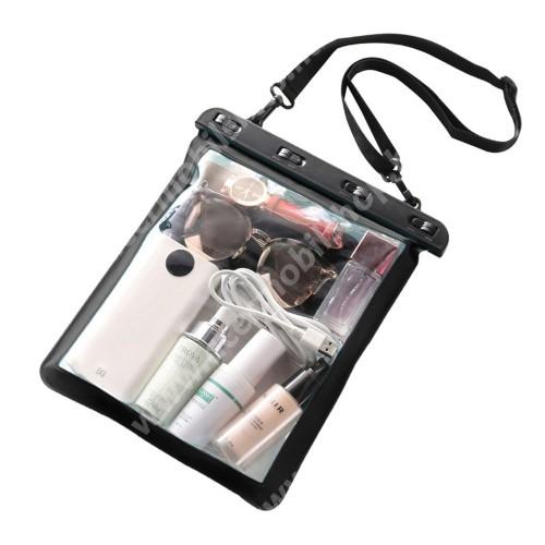 ACER Iconia Tab A3-A20FHD Vízhatlan / vízálló táska, AQUA - 30 méterig, vállpánt, 250 x 230mm - FEKETE / ÁTLÁTSZÓ