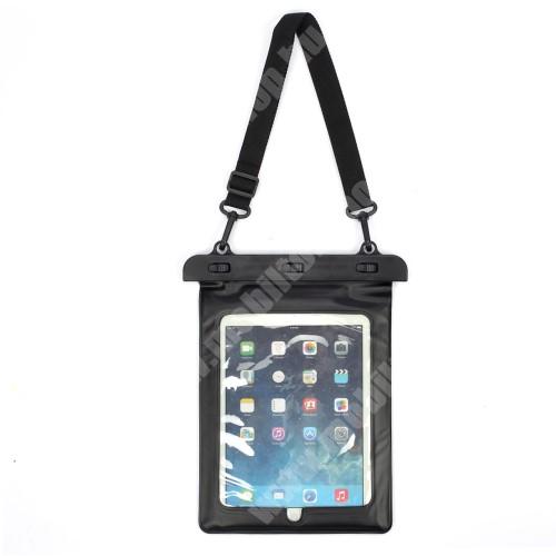 """PRESTIGIO MultiPad 8.0 PRO DUO Vízhatlan / vízálló táska, AQUA - 30 méterig, állítható vállpánt, 10""""-os készülékekhez ajánlott - FEKETE / ÁTLÁTSZÓ"""