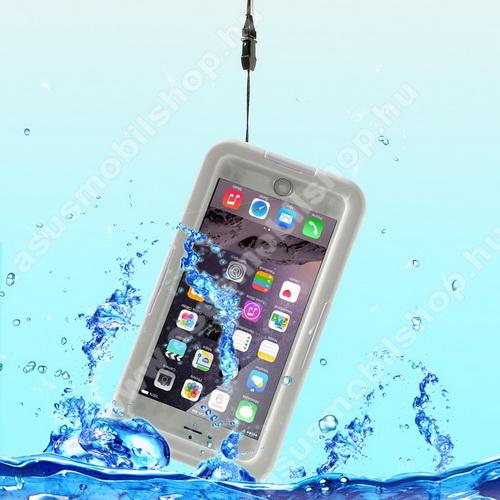 Vízhatlan / vízálló tok - nyakba akasztható, 6m mélységig vízálló - FEHÉR / ÁTLÁTSZÓ - APPLE iPhone 6 Plus