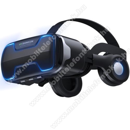 Vodafone Smart E8VR SHINECON G02ED videoszemüveg - VR 3D, filmnézéshez ideális, levehető headset, 42mm átmérőjű műgyanta lencse, 4-6