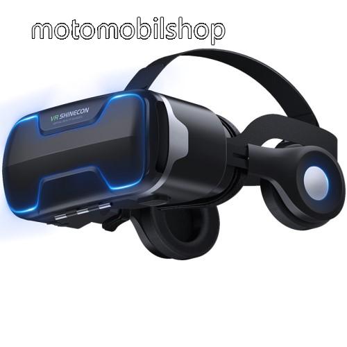 """MOTOROLA MPX100 VR SHINECON G02ED videoszemüveg - VR 3D, filmnézéshez ideális, levehető headset, 42mm átmérőjű műgyanta lencse, 4-6"""" kijelzőhöz, 160mm x 88mm telefon befogadó keret, CSAK GIROSZKÓPPAL ELLÁTOTT OKOSTELEFONOKKAL MŰKÖDIK - FEKETE"""