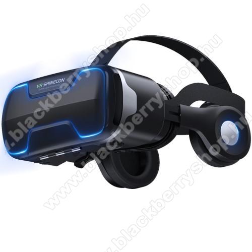 BLACKBERRY 8300VR SHINECON G02ED videoszemüveg - VR 3D, filmnézéshez ideális, levehető headset, 42mm átmérőjű műgyanta lencse, 4-6