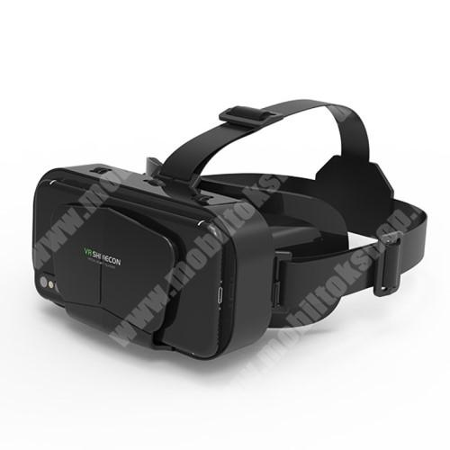 PHILIPS W8510 VR SHINECON G10 videoszemüveg - VR 3D, filmnézéshez ideális, 175mm x 80mm x 20mm telefon befogadó keret, CSAK GIROSZKÓPPAL ELLÁTOTT OKOSTELEFONOKKAL MŰKÖDIK - FEKETE