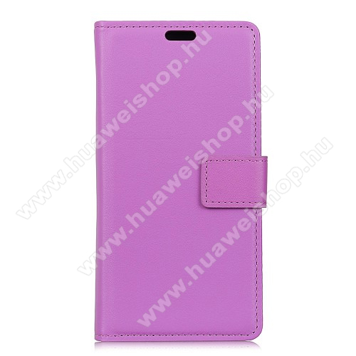 Wallet notesz / flip tok - LILA - oldalra nyíló, rejtett mágneses, álló, asztali tartó funkció, bankkártya tartó, szilikon belső - HUAWEI P20 (2018)