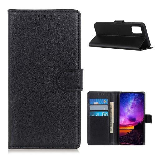 WALLET notesz tok / flip tok - FEKETE - asztali tartó funkciós, oldalra nyíló, rejtett mágneses záródás, bankkártyatartó zseb, szilikon belső - Xiaomi Poco M3 / Redmi 9T / Redmi 9 Power