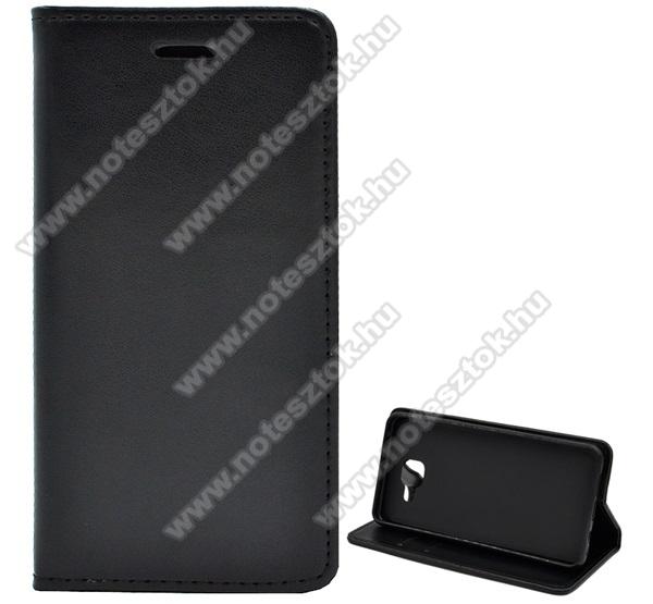 WALLET notesz tok / flip tok - FEKETE - asztali tartó funkciós, oldalra nyíló, rejtett mágneses záródás, bankkártyatartó zseb, szilikon belső - SAMSUNG Galaxy A5 SM-A510F (2016)