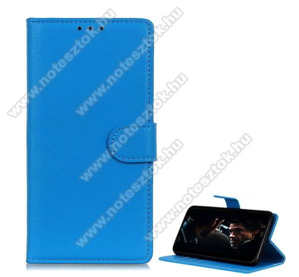 WALLET notesz tok / flip tok - VILÁGOSKÉK - asztali tartó funkciós, oldalra nyíló, rejtett mágneses záródás, bankkártyatartó zseb, szilikon belső - MOTOROLA Moto G8 Power