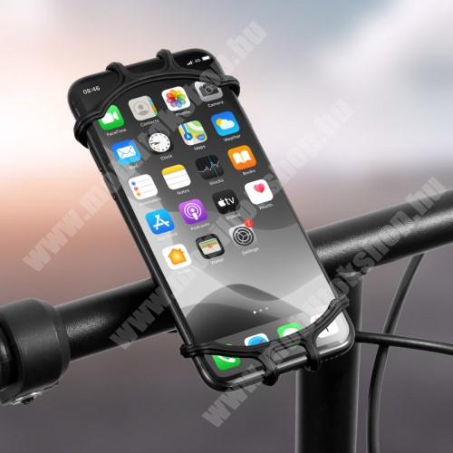 Jolla Jolla C WEST BIKING UNIVERZÁLIS biciklis / kerékpáros tartó konzol mobiltelefon készülékekhez - FEKETE - 360°-ban forgatható, kormányra rögzíthető, szilikon, 65mm x 125mm