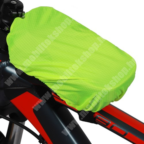 LG G4c (H525N) WEST BIKING UNIVERZÁLIS takaró biciklis / kerékpáros tartó konzolokhoz - vízálló, gumis, 18.5 x 11cm - ZÖLD