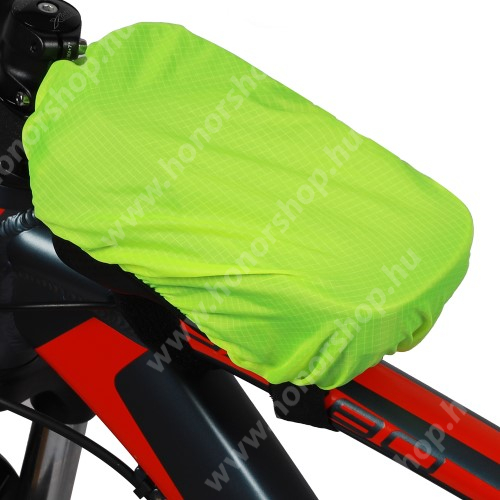 HUAWEI Honor V40 5G WEST BIKING UNIVERZÁLIS takaró biciklis / kerékpáros tartó konzolokhoz - vízálló, gumis, 18.5 x 11cm - ZÖLD