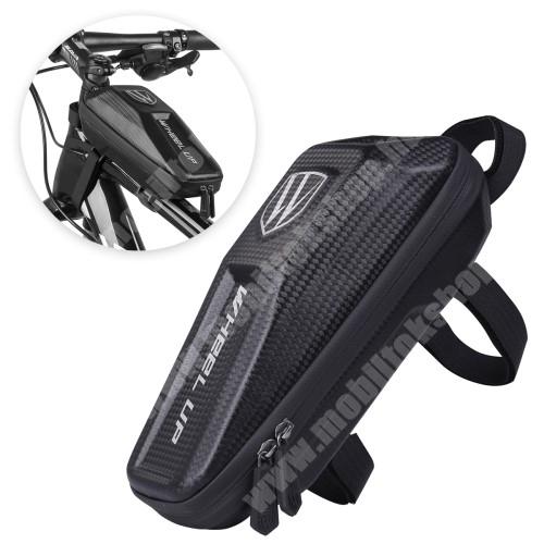 PRESTIGIO MultiPad 8.0 PRO DUO WHEEL UP EVA UNIVERZÁLIS biciklis / kerékpáros táska - vázra rögzíthető, tépőzáras, cseppálló védő tokos kialakítás, cipzáros, belső hálos zsebek - FEKETE - 240 x 100 x 80 mm