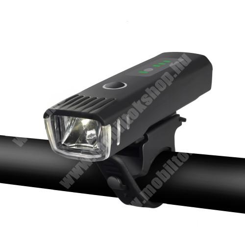 LG G4c (H525N) WHEELUP UNIVERZÁLIS biciklis / kerékpáros lámpa - 4 fajta világítás, vízálló, kormányra rögzíthető, 1500mAh beépített akku, 9,9 x 3 x 2,3 cm - FEKETE