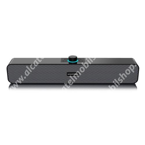 WIWIPENDA L6 hordozható bluetooth hangszóró / soundbar  - V5.0, 2x 3W teljesítmény, 1200mAh beépített akkumulátor, AUX, TF kártyaolvasó, USB port, 385 x 65 x 55mm - FEKETE