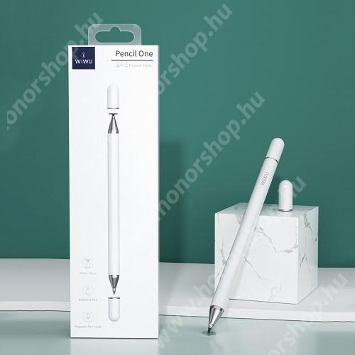 HUAWEI Honor 5C WIWU érintőképernyő ceruza / golyós toll - kapacitív kijelzőhöz, KÉZÍRÁSRA, RAJZOLÁSRA ALKALMAS - FEHÉR