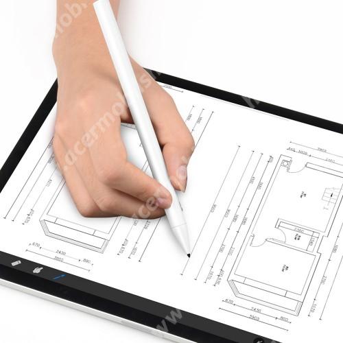 ACER Liquid Jade (S55)WIWU érintőképernyő ceruza - kapacitív kijelzőkhöz, aktív érzékelő technológia, 110mAh beépített újratölthető akkumulátorral, kézírásra, rajzolásra is alkalmas - FEHÉR - GYÁRI
