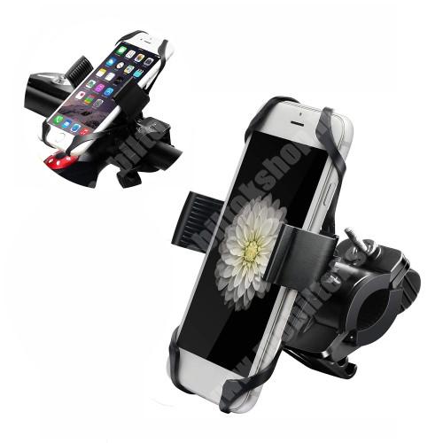 """SAMSUNG GT-S5330 Wave 533 X-TREME telefon tartó kerékpár / bicikli - FEKETE - UNIVERZÁLIS - elforgatható - 4,7-6,5""""-os méretig használható bölcsővel"""