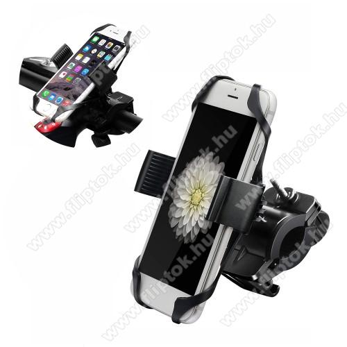 ZTE S30X-TREME telefon tartó kerékpár / bicikli - FEKETE - UNIVERZÁLIS - elforgatható - 4,7-6,5