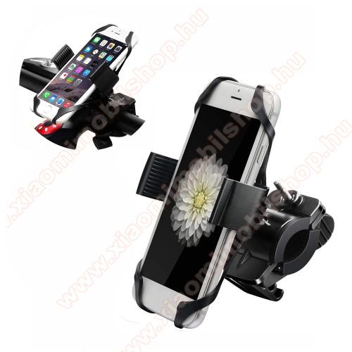Xiaomi Poco X3 ProX-TREME telefon tartó kerékpár / bicikli - FEKETE - UNIVERZÁLIS - elforgatható - 4,7-6,5
