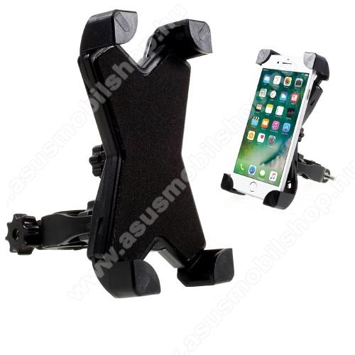 X-TREME telefon tartó kerékpár / bicikli - FEKETE - UNIVERZÁLIS - elforgatható - 100-160 mm-ig nyíló bölcsővel