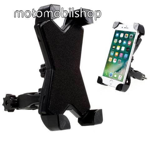 MOTOROLA W375 X-TREME telefon tartó kerékpár / bicikli - FEKETE - UNIVERZÁLIS - elforgatható - 100-160 mm-ig nyíló bölcsővel