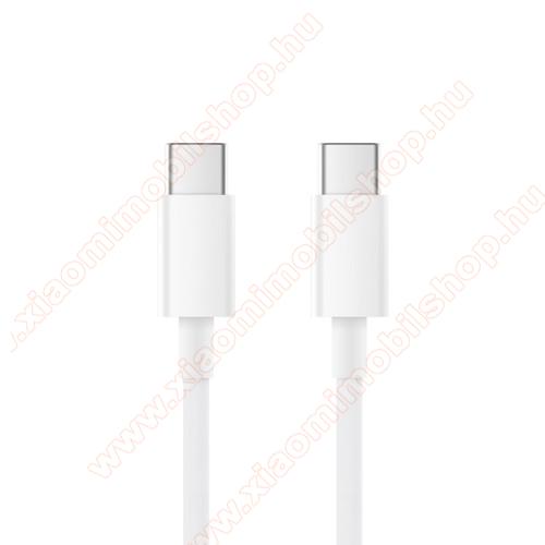 Xiaomi Redmi Note 7XIAOMI adatátviteli kábel / USB töltő - Type-C / Type-C, 1,5m, 5A, 100W - FEHÉR - SJX12ZM - GYÁRI