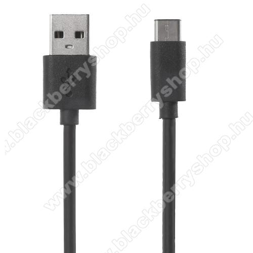 BLACKBERRY KeyoneXIAOMI adatátviteli kábel / USB töltő - USB 3.1 Type C - FEKETE - 120cm - GYÁRI