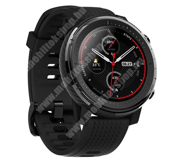 Blackphone XIAOMI Amazfit Stratos 3 okosóra (szilikon szíjjal, aktívitásmérés, GPS, pulzusmérés, 34mm) - FEKETE - A1929 - GYÁRI