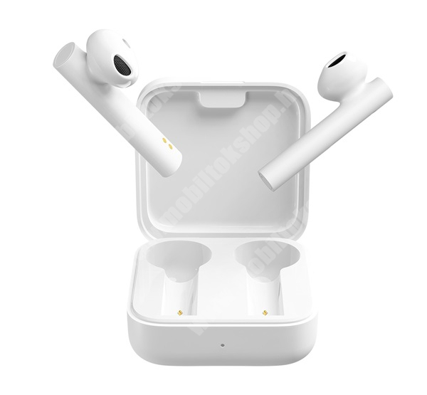 XIAOMI Earphone 2 Basic bluetooth SZTEREO fülhallgató (v5.0, TWS, extra mini + töltőtok) - FEHÉR - BHR4089GL / TWSEJ06WM_W - GYÁRI
