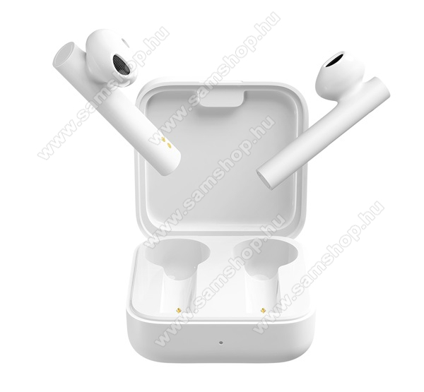SAMSUNG GT-T401GXIAOMI Earphone 2 Basic bluetooth SZTEREO fülhallgató (v5.0, TWS, extra mini + töltőtok) - FEHÉR - BHR4089GL / TWSEJ06WM_W - GYÁRI