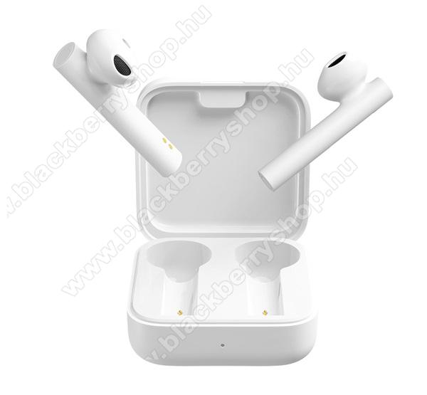 BLACKBERRY 8110 PearlXIAOMI Earphone 2 Basic bluetooth SZTEREO fülhallgató (v5.0, TWS, extra mini + töltőtok) - FEHÉR - BHR4089GL / TWSEJ06WM_W - GYÁRI