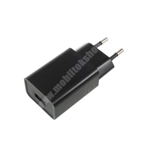 LG K40 (K12+) XIAOMI hálózati töltő - 1 x USB aljzat, 5V / 2A - FEKETE - CYSK10-050200-E - GYÁRI