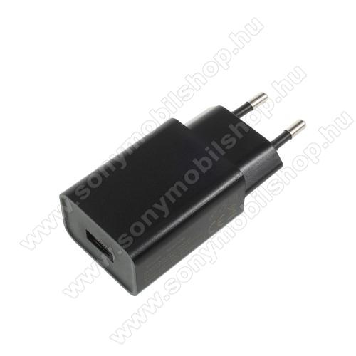 SONY Xperia E4g (E2003 / E2006 / E2053)XIAOMI hálózati töltő - 1 x USB aljzat, 5V / 2A - FEKETE - CYSK10-050200-E - GYÁRI