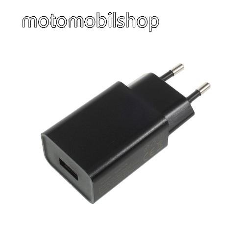 MOTOROLA Moto E4 XIAOMI hálózati töltő - 1 x USB aljzat, 5V / 2A - FEKETE - CYSK10-050200-E - GYÁRI