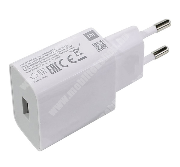 XIAOMI hálózati töltő - 1 x USB aljzat, 5V / 2000 mA, gyorstöltés támogatás - FEHÉR - MDY-09EW - GYÁRI
