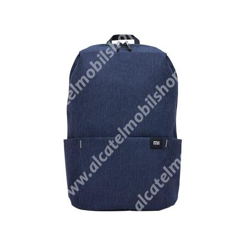 ALCATEL OTE 301 XIAOMI hátizsák - ultrakönnyű, kopásálló poliészter anyag, vízálló, 10L kapacitás - SÖTÉTKÉK - 340  x 225 x 130mm