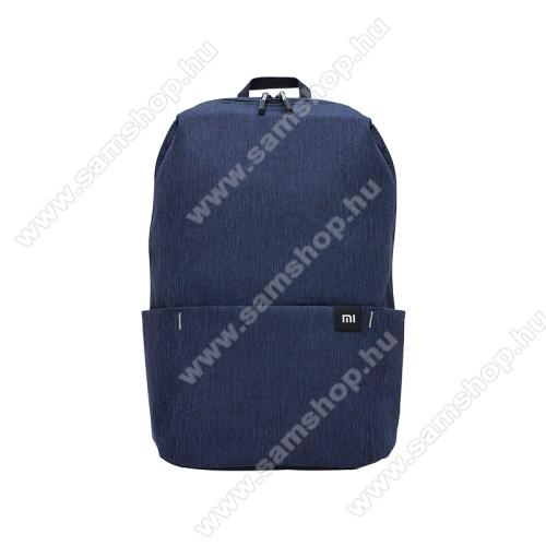 SAMSUNG SGH-M300XIAOMI hátizsák - ultrakönnyű, kopásálló poliészter anyag, vízálló, 10L kapacitás - SÖTÉTKÉK - 340  x 225 x 130mm