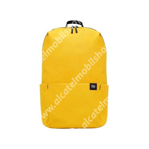 ALCATEL A5 LED XIAOMI hátizsák - ultrakönnyű, kopásálló poliészter anyag, vízálló, 10L kapacitás - SÁRGA - 340  x 225 x 130mm