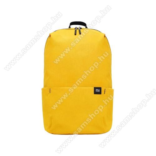SAMSUNG SGH-M300XIAOMI hátizsák - ultrakönnyű, kopásálló poliészter anyag, vízálló, 10L kapacitás - SÁRGA - 340  x 225 x 130mm