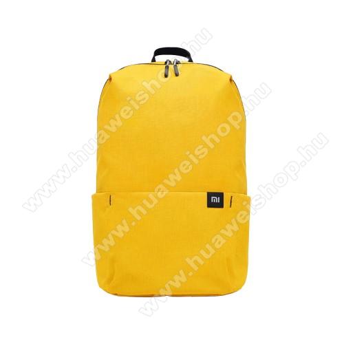 HUAWEI Honor 20 lite (For China Market)XIAOMI hátizsák - ultrakönnyű, kopásálló poliészter anyag, vízálló, 10L kapacitás - SÁRGA - 340  x 225 x 130mm