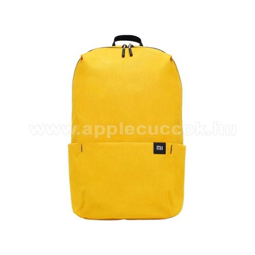 APPLE iPhone 7 PlusXIAOMI hátizsák - ultrakönnyű, kopásálló poliészter anyag, vízálló, 10L kapacitás - SÁRGA - 340  x 225 x 130mm