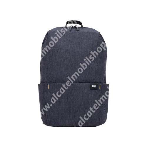 ALCATEL OTE 301 XIAOMI hátizsák - ultrakönnyű, kopásálló poliészter anyag, vízálló, 10L kapacitás - FEKETE - 340  x 225 x 130mm