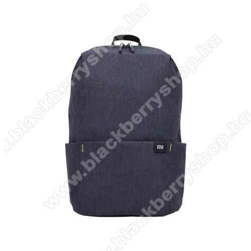 BLACKBERRY LeapXIAOMI hátizsák - ultrakönnyű, kopásálló poliészter anyag, vízálló, 10L kapacitás - FEKETE - 340  x 225 x 130mm