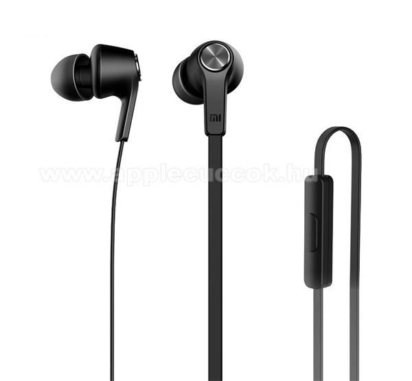 XIAOMI IN EAR SZTEREO headset, fülhallgató - 3.5mm jack, mikrofon, felvevő gomb - ZBW4354TY - FEKETE - GYÁRI