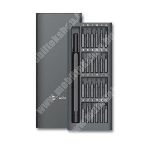 SIEMENS A75 XIAOMI Mijia Wiha 24 in 1 csavarhúzókészlet - Alumínium tárolódobozzal, 168 x 67 x 17mm - GYÁRI