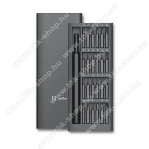 XIAOMI Mijia Wiha 24 in 1 csavarhúzókészlet - Alumínium tárolódobozzal, 168 x 67 x 17mm - GYÁRI