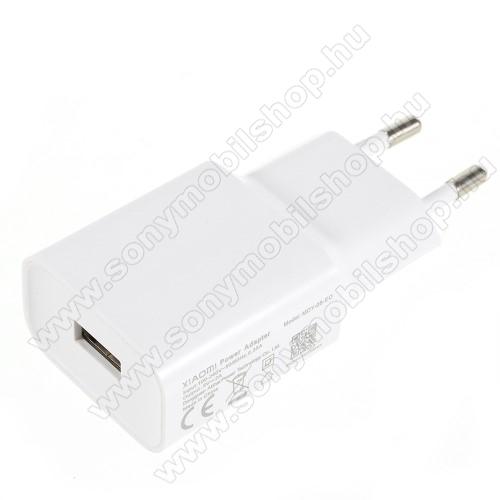 SONY Xperia E4g (E2003 / E2006 / E2053)XIAOMI OEM hálózati töltő - 1 x USB aljzat, 5.0V / 2A - FEHÉR - MDY-08-EO - GYÁRI