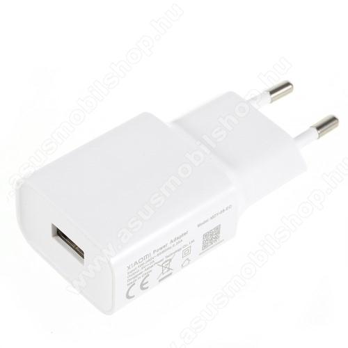 ASUS Zenfone 3 Deluxe (ZS570KL)XIAOMI OEM hálózati töltő - 1 x USB aljzat, 5.0V / 2A - FEHÉR - MDY-08-EO - GYÁRI