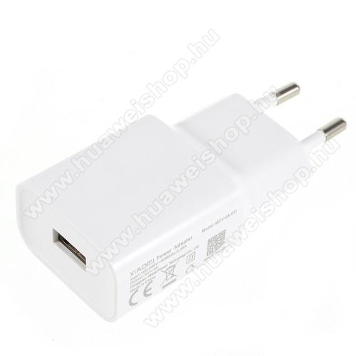HUAWEI Honor V10XIAOMI OEM hálózati töltő - 1 x USB aljzat, 5.0V / 2A - FEHÉR - MDY-08-EO - GYÁRI