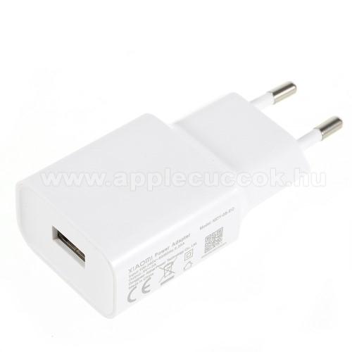 APPLE iPad Pro 11 (2018)XIAOMI OEM hálózati töltő - 1 x USB aljzat, 5.0V / 2A - FEHÉR - MDY-08-EO - GYÁRI